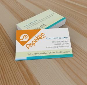 Branding - Business Cards Papakea Resort