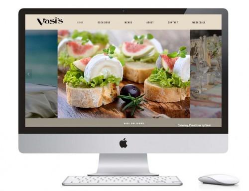 Web Design – Vasis Gourmet Catering