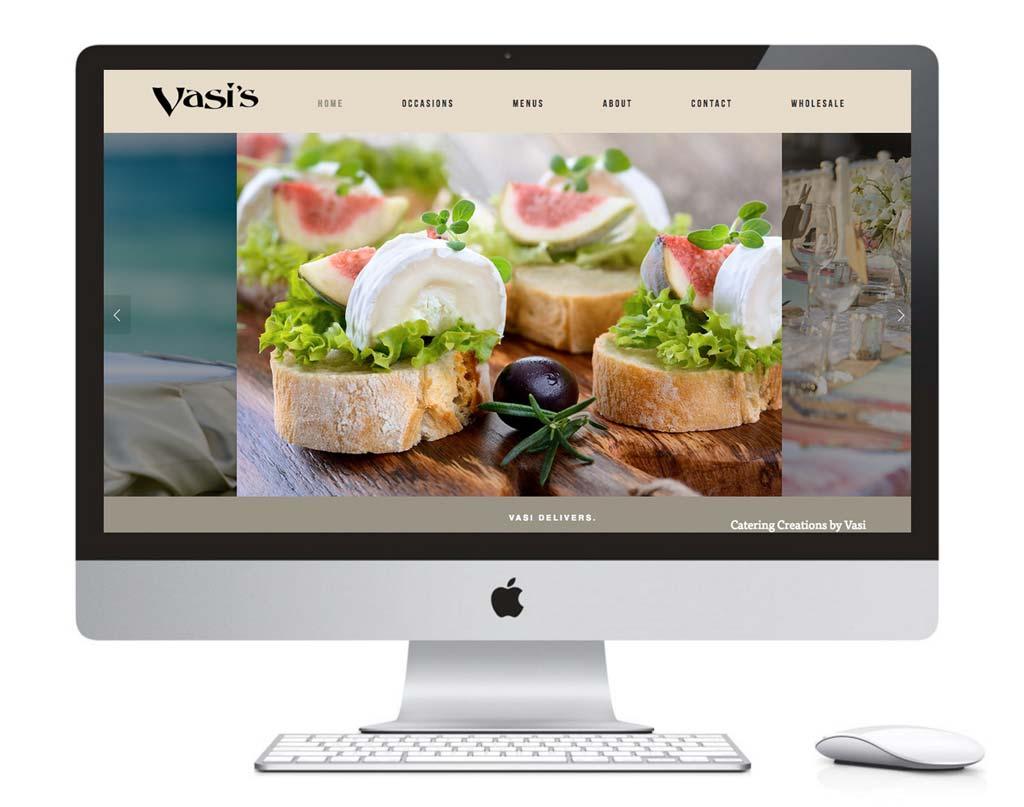 Web Design Vasis Gourmet Catering