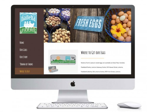 Website Design – Nailena Farms