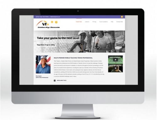 Website Design – Velocity Tennis